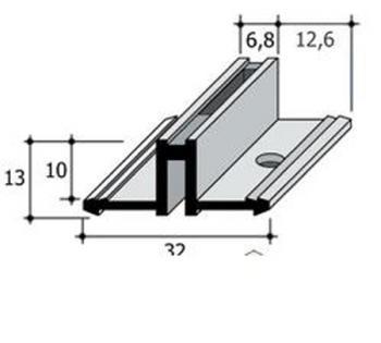 Supporti per mensole su profili in alluminio for Mensole in alluminio