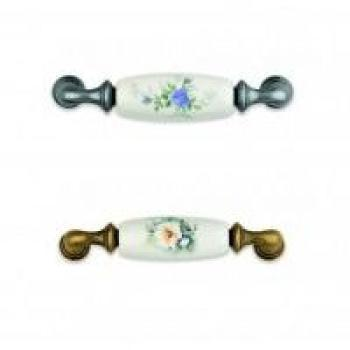 Maniglia in porcellana per mobile Interasse 96 mm florence
