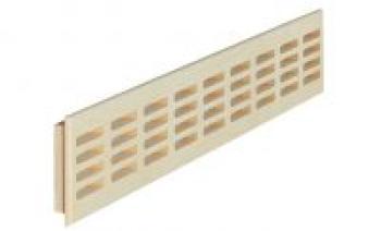 Griglia d'aerazione rettangolare in Legno massello Rovere 550 x 80 mm