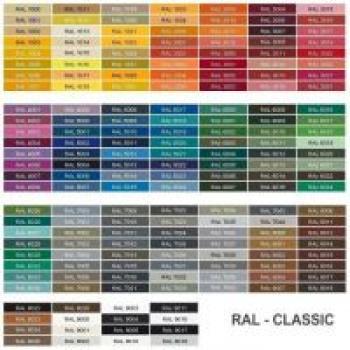 Maggiorazione prezzo per colorazione griglie con colori cartella RAL (OPACO )