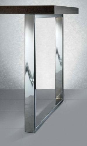 Gamba per tavolo altezza 710 mm per piano da 900 cromo lucido ...