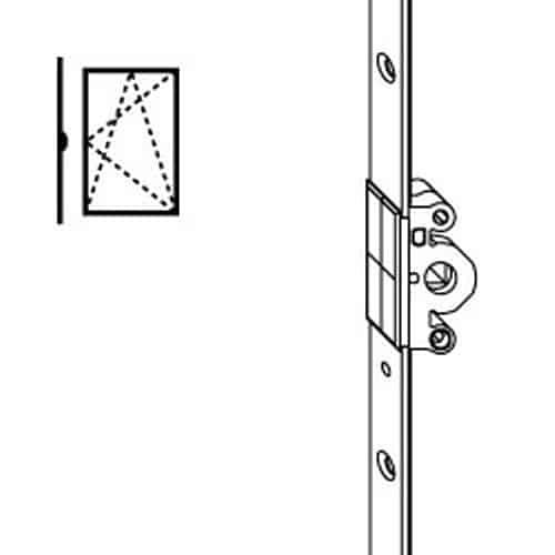 Maico ferramenta maco cremonese 2 ante battente da 1000 a 1300 altezza maniglia 500 - Meccanismo cremonese finestra ...
