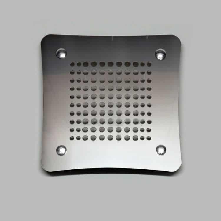 Griglia aerazione design airdecor luna 100 mm acciaio - Griglie di aerazione design ...
