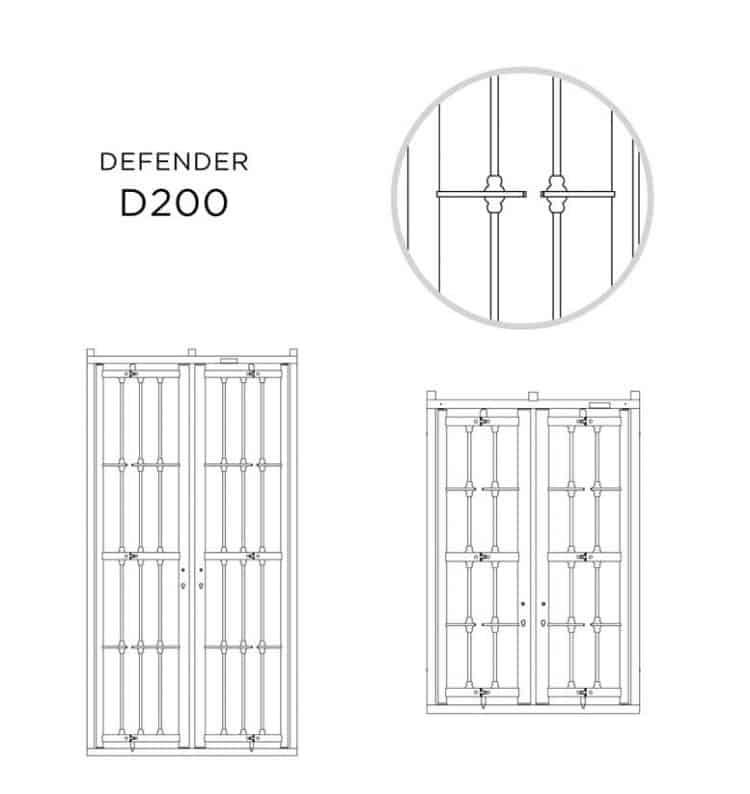Grate defender alias modello d 200 for Porte blindate alias modello steel