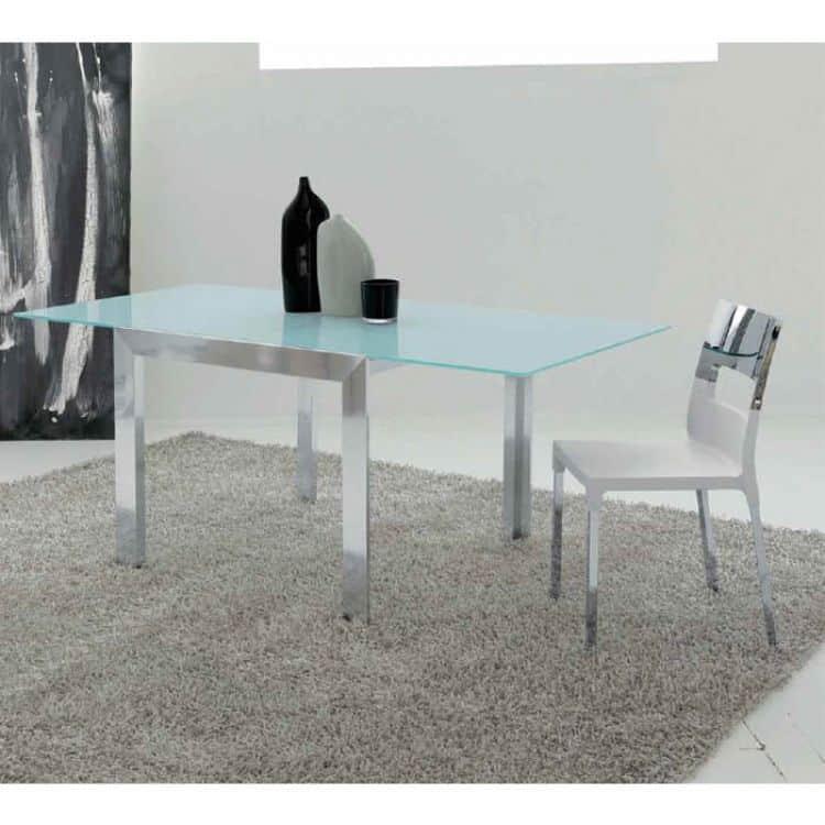 Tavolo cucina vetro tavolo allungabile con sedie - Epierre