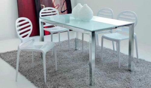 Tavolo per zona living consolle tavolo slim atim - Tavolo consolle vetro allungabile ...