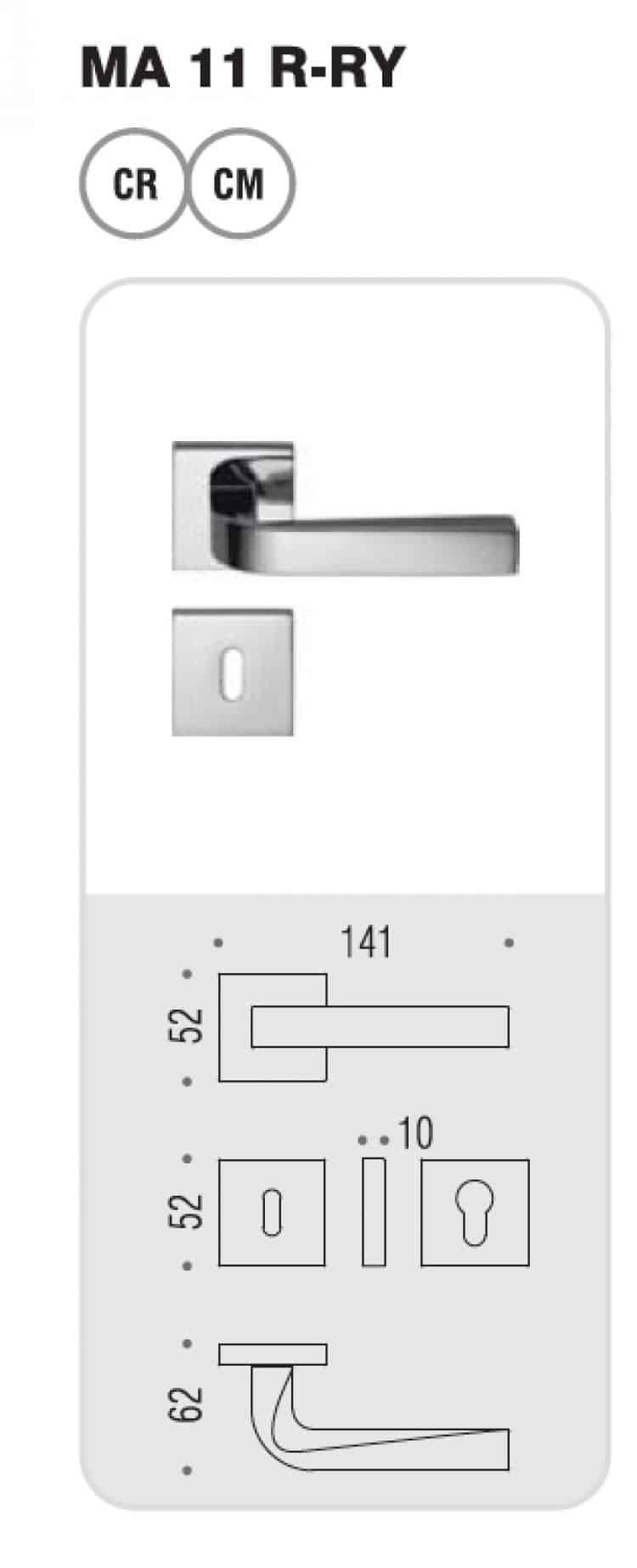 Maniglia per porte interne colombo design serie prius for Colombo design outlet