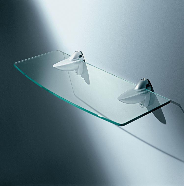 Mensole in vetro trasparente e acidato online for Mensola sopra letto