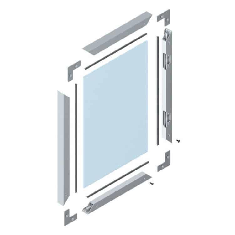 Profilo per Ante in vetro Altezza da 241 – 360 mm e Larghezza da ...