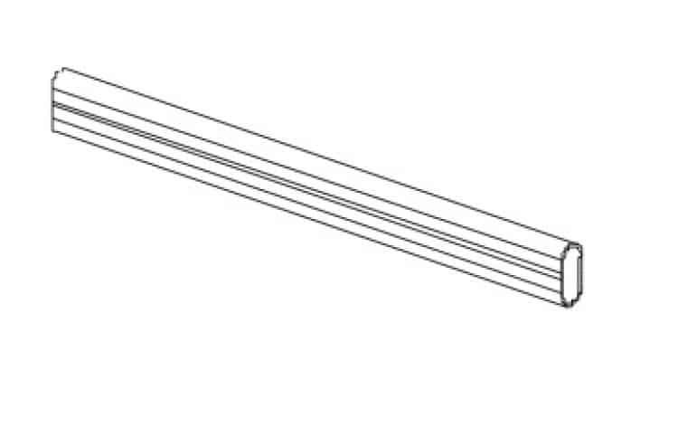 Barra Appendiabiti.Tubo Alluminio Per Barra Appendiabiti Lunghezza 1200 Mm