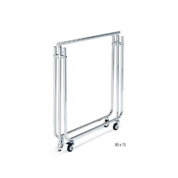 Stender porta abiti pieghevole lunghezza 80 cm articoli per la casa - Porta abiti con ruote ...