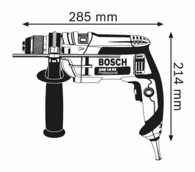 Trapano con percussione gsb 16 re bosch professional - Bosch gsb 16 re ...