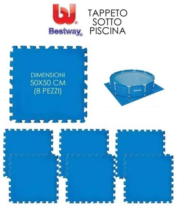 Tappeto componibile sottopiscina di dimensioni 2x2 m tuttoferramenta - Tappeto sottopiscina ...