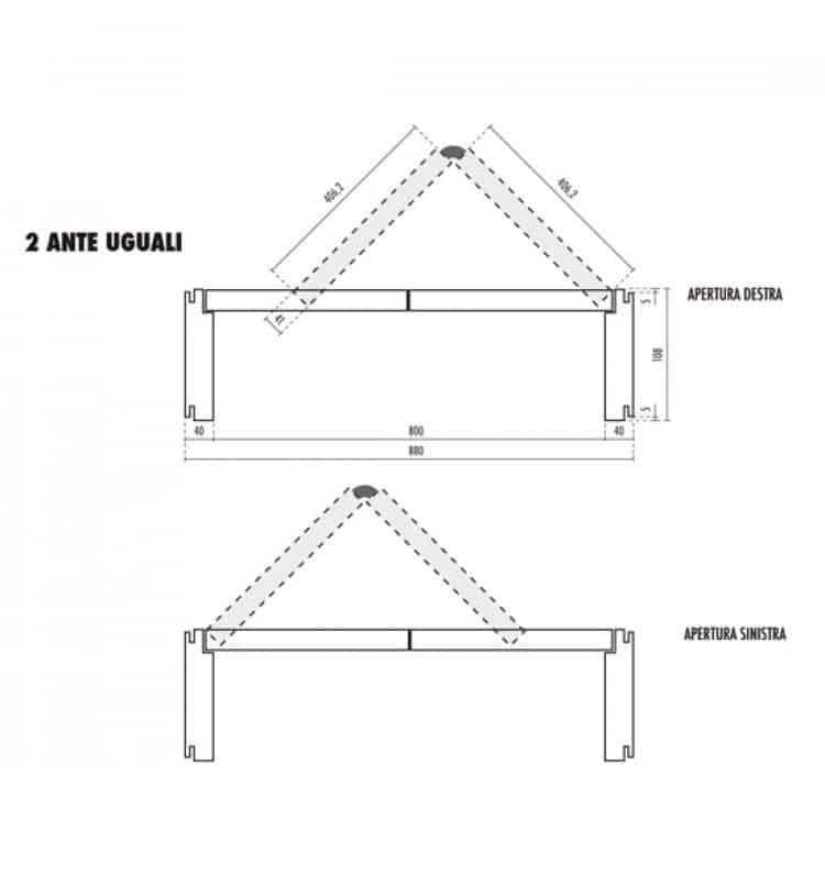 Porta pieghevole 2 ante uguali laccato bianco tuttoferramenta - Porta pieghevole ...