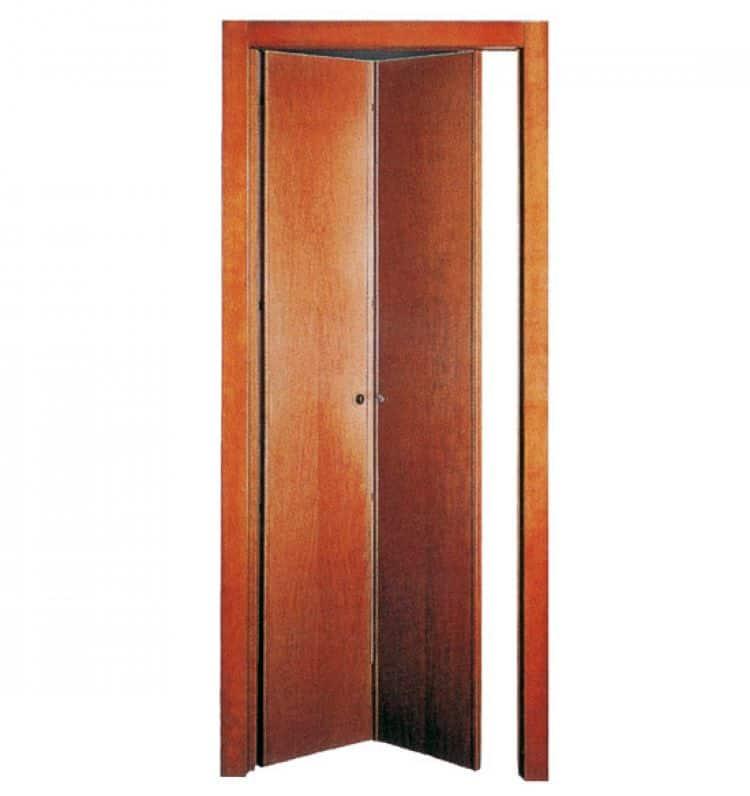 Porta pieghevole 2 ante uguali noce tanganica for Porta a libro noce