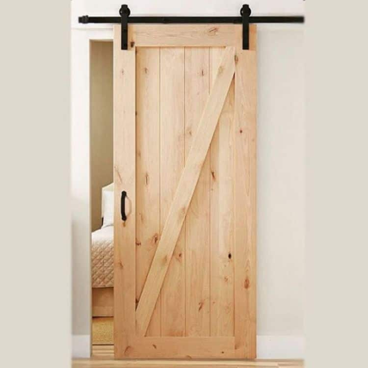 Kit binario per porta scorrevole esterno muro le fabric lunghezza binario 3000 mm finitura nero - Guida per porta scorrevole ...
