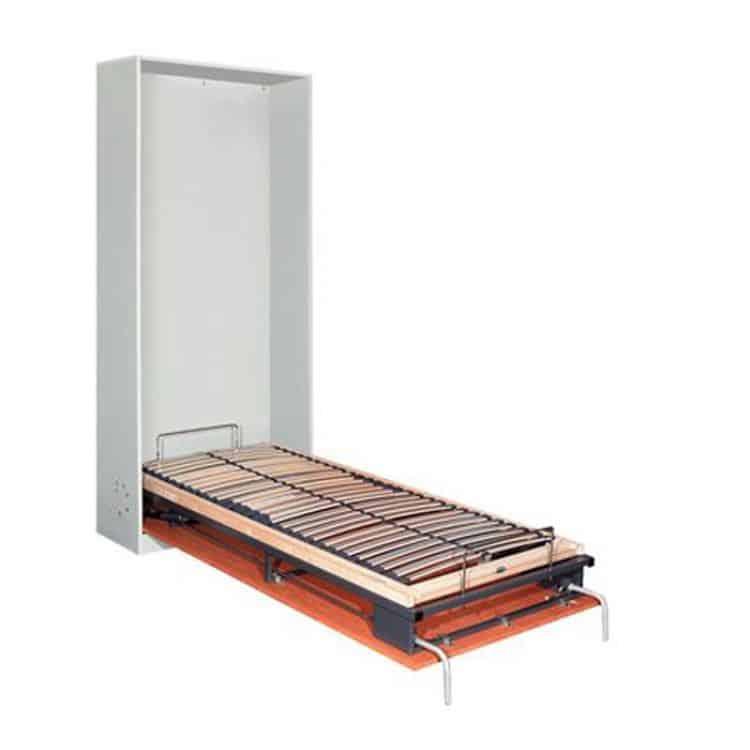 Meccanismo per letto singolo ribaltabile trasversale letto 900 x 2000 mm CON MATERASSO compreso ...