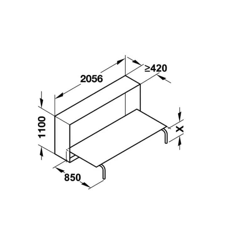 72160e13453e14 Meccanismo per letto singolo ribaltabile trasversale letto 900 x 2000 mm  CON MATERASSO compreso