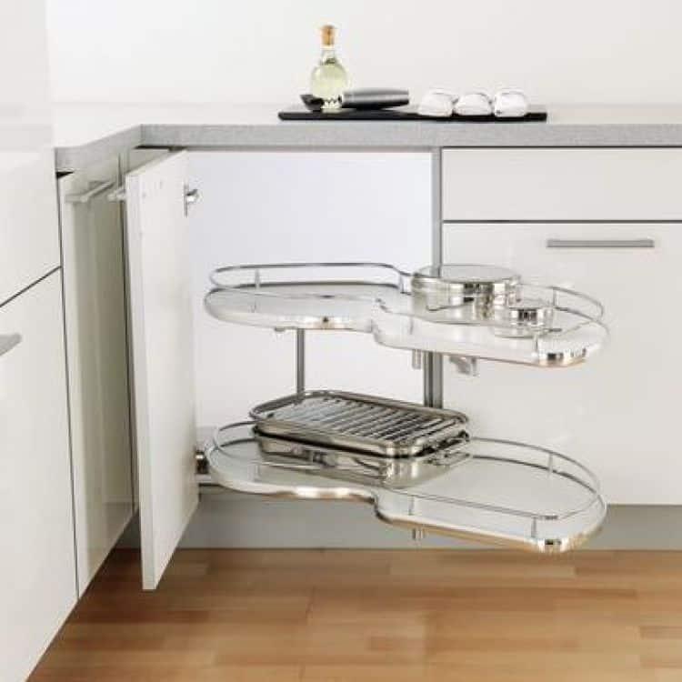Guarnitura girevole estraibile twin corner modulo 1200 mm for Cestelli estraibili per cucina ad angolo
