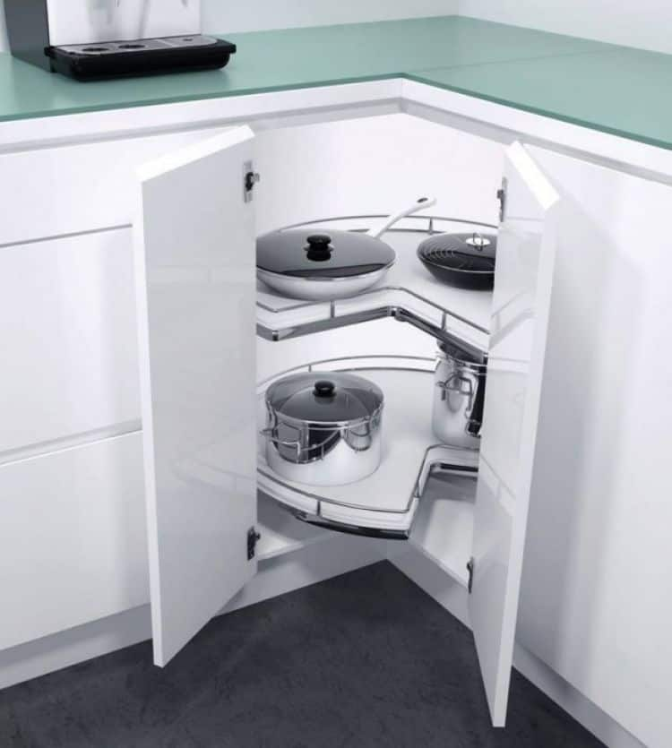 Recorner max meccanismo ad angolo per cucina h fele - Mobili per angoli ...