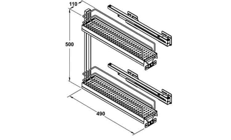 Portabottiglie modulo 150 mm per mobili estraibili cucina for Portabottiglie leroy merlin