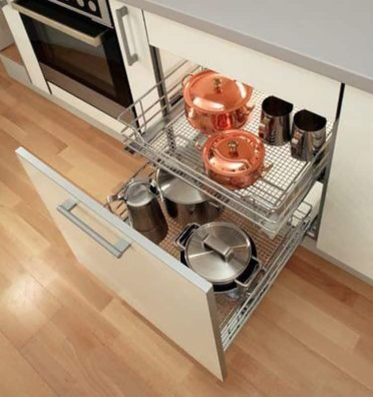 cesti saphir modulo 900 mm per mobili estraibili cucina - vauth ... - Cestelli Estraibili Per Cucine