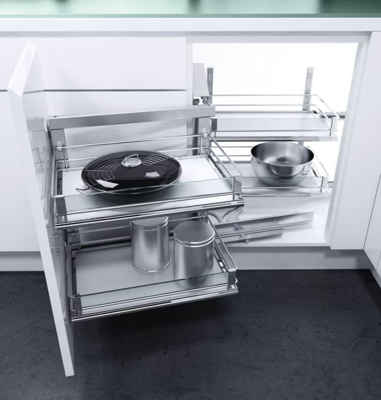 Telaio WaCo meccanismo estraibile per mobili base ad angolo - Hafele - Tuttoferramenta.it