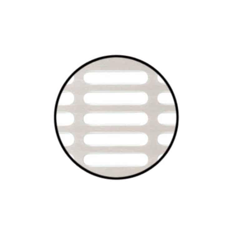 Griglia di aerazione da incasso Acciaio Inox 500 x 100 mm da pressare color Spazzolato opaco ...