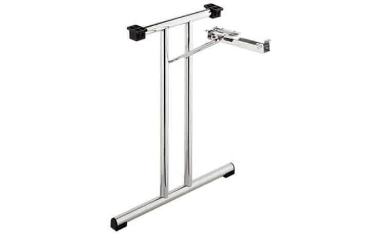 Set gambe a t meccanismo per tavolo pieghevole for Gambe pieghevoli per tavoli fai da te