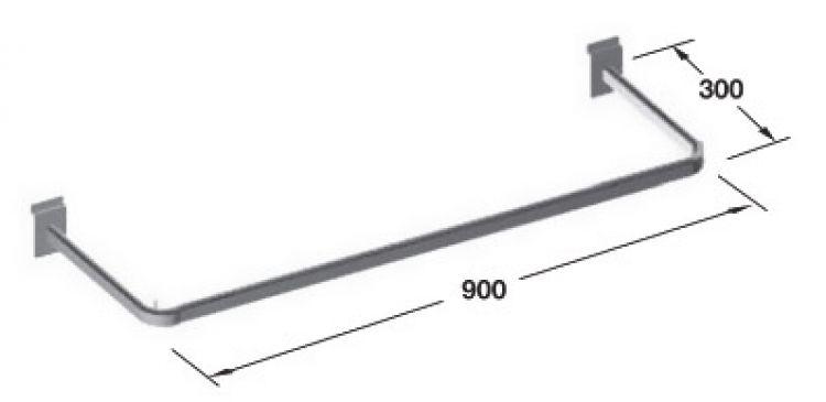 Barra Appendiabiti.Barra Appendiabiti 900x300 In Acciaio Tuttoferramenta