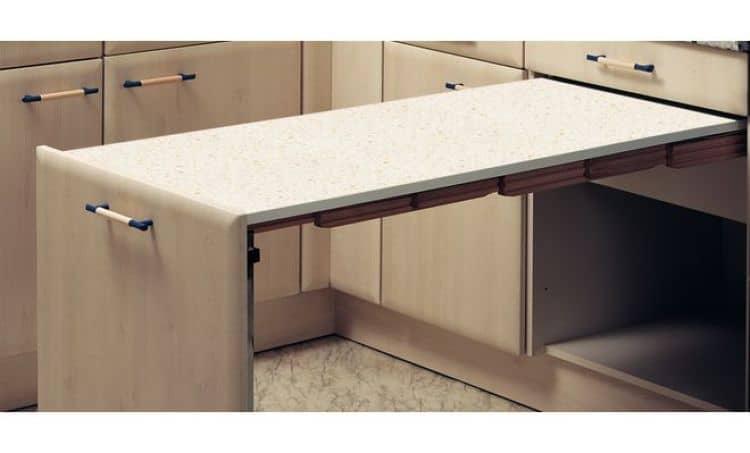 Tavolo estraibile 561 x 504 x 195 mm portata 110 kg - Tavolo estraibile ...
