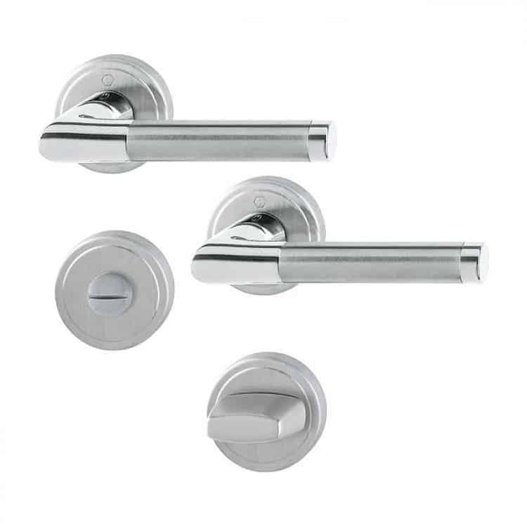 Maniglie di design per porte e finestre tuttoferramenta hoppe modello capri - Maniglie porte interne cromo satinato ...