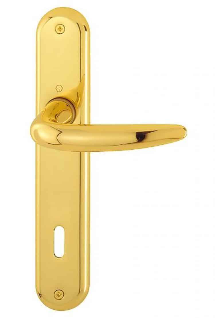 Maniglie hoppe serie atlanta ottone per porte e finestre - Maniglie per porte interne classiche ...