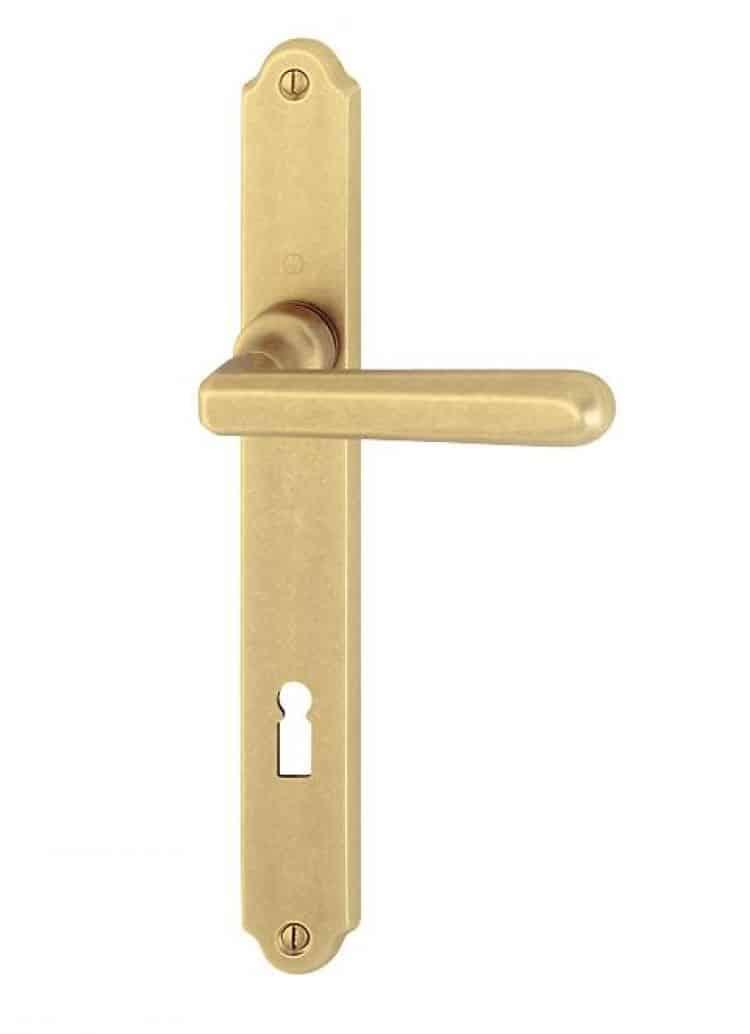 Maniglia per porte placca in ottone hoppe basel - Maniglie ottone per porte ...