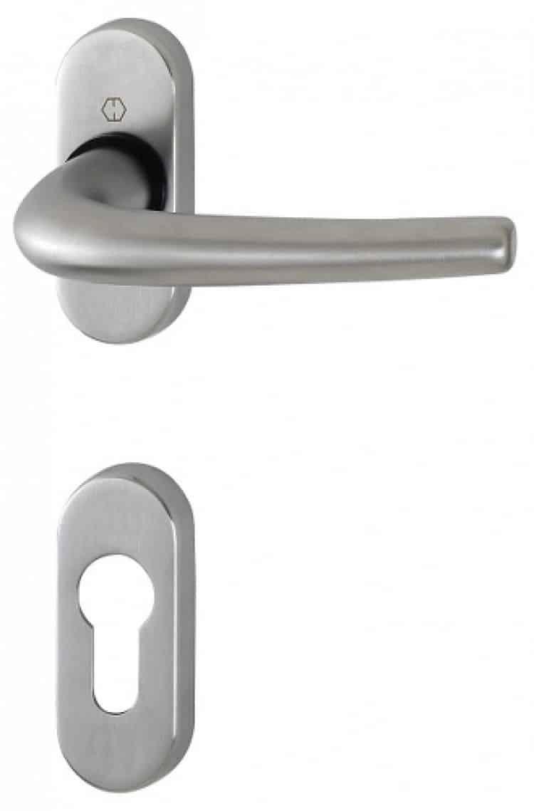 Maniglie per porte interne in alluminio a placca lunga o - Maniglie per porte interne prezzi ...