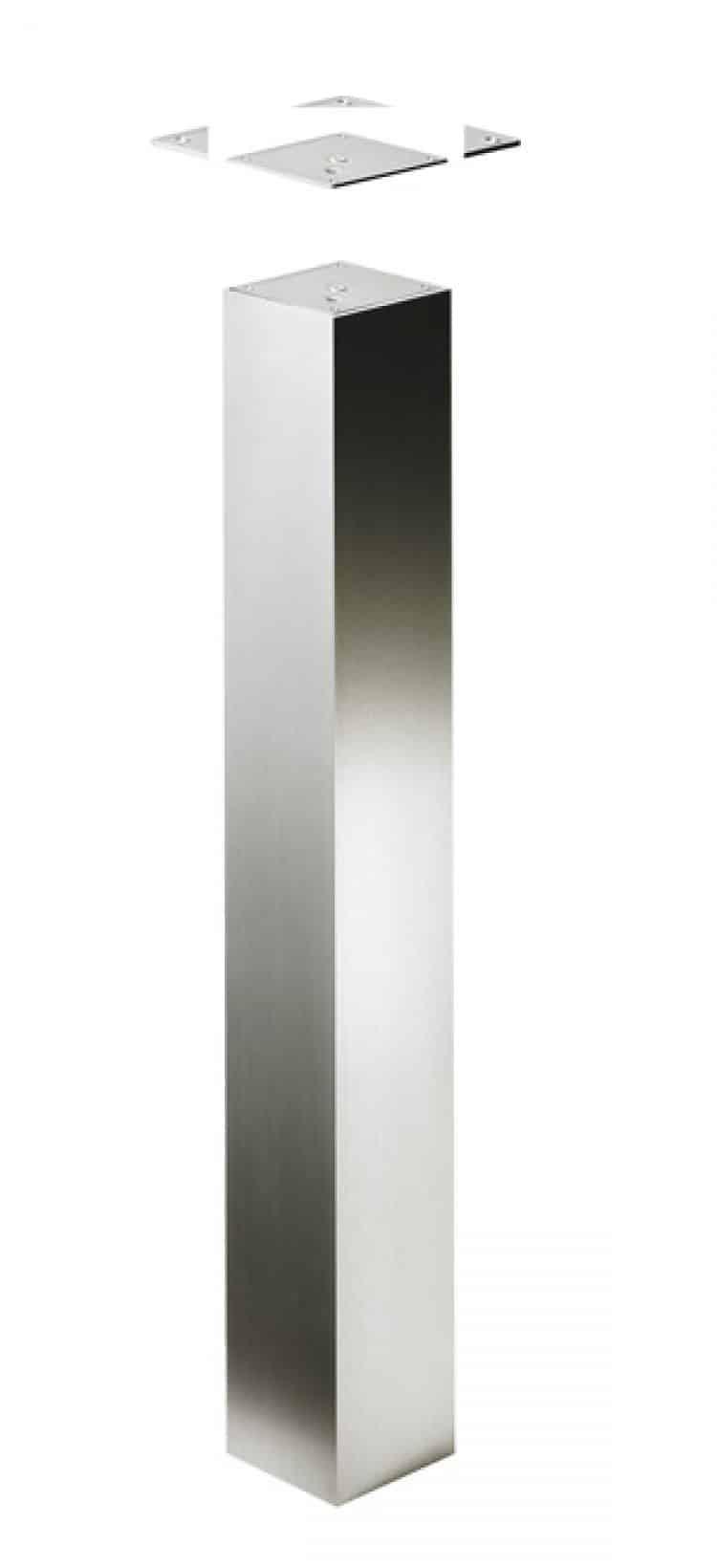 Gamba per tavoli di design Abena 1100 mm Acciaio inox - tuttoferramenta.it