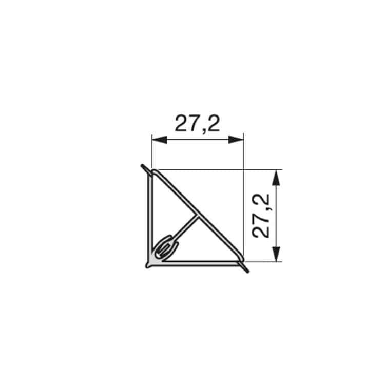 Alzatina triangolare 4000 mm in Alluminio colore argento ...