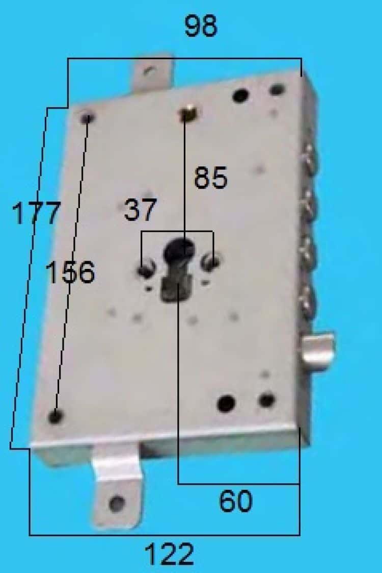 Serratura per porta blindata applicare triplice a cilindro - Cilindro porta blindata prezzo ...