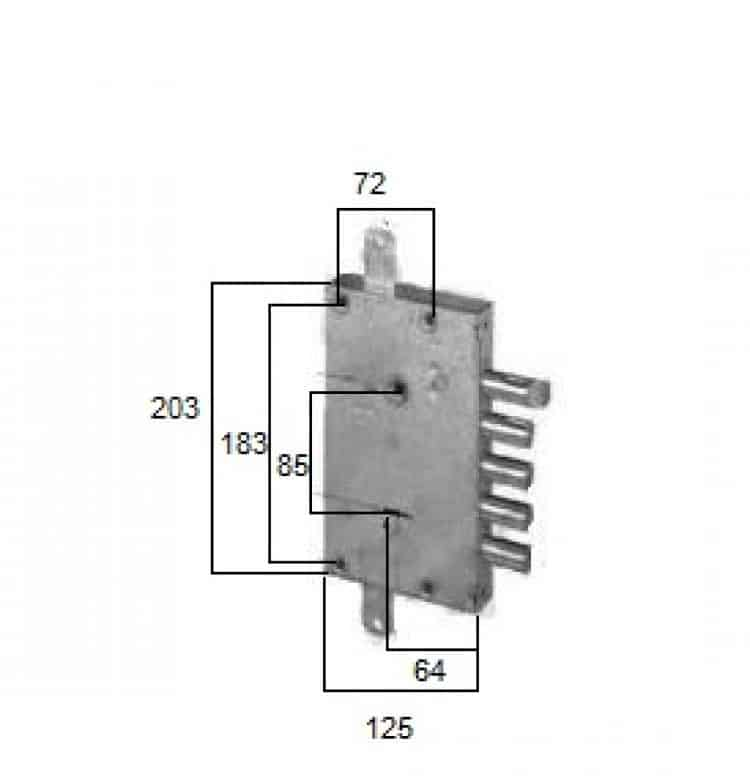 Serratura doppia mappa per porta blindata int 28 cisa - Doppia serratura porta blindata ...