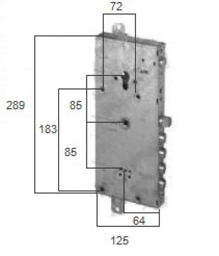 Serratura plurifunzione con blocco di sicurezza per porta - Doppia serratura porta blindata ...