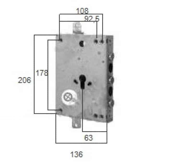 Serratura ricambio a cilindro per porta blindata int 56 - Cilindro porta blindata prezzo ...