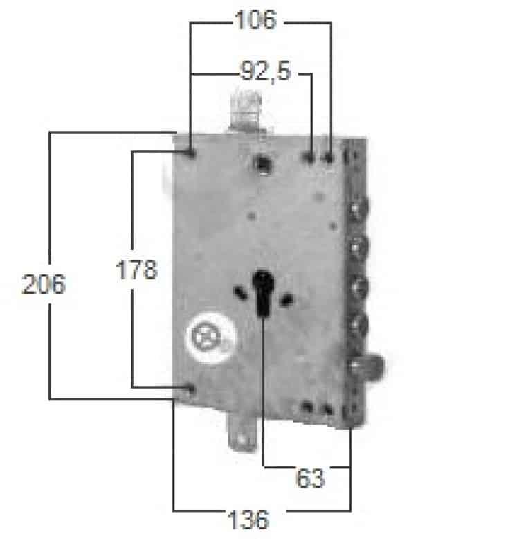 Serratura ricambio a cilindro per porta blindata int 28 - Cilindro porta blindata ...