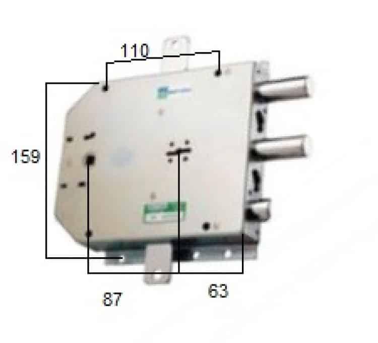 Serratura per blindati con doppia mappa applicare triplice for Serratura mottura doppia mappa
