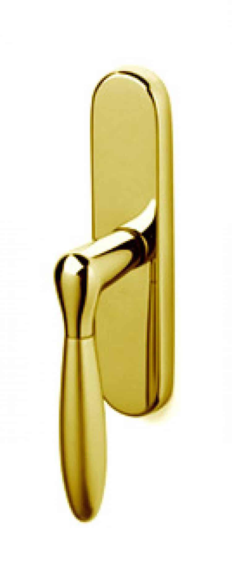 Maniglia design olivari comet bicolor maniglia per for Maniglie porte oro