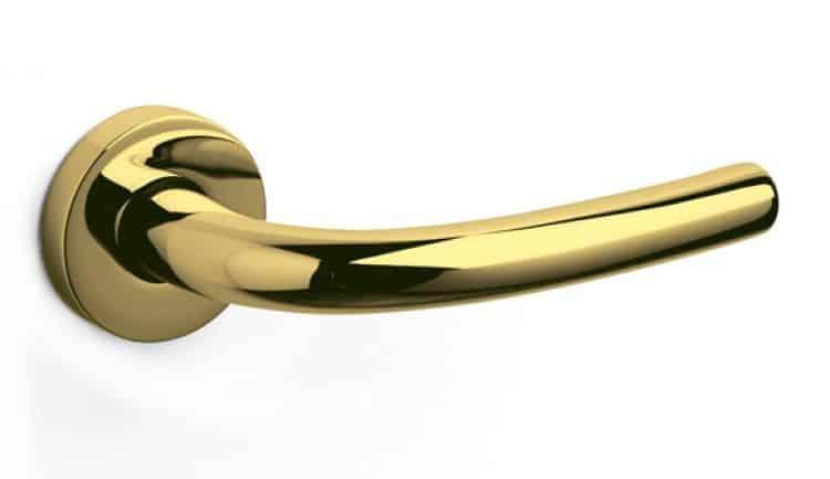 Maniglie di design per porte e finestre olivari modello - Maniglie porte ottone ...