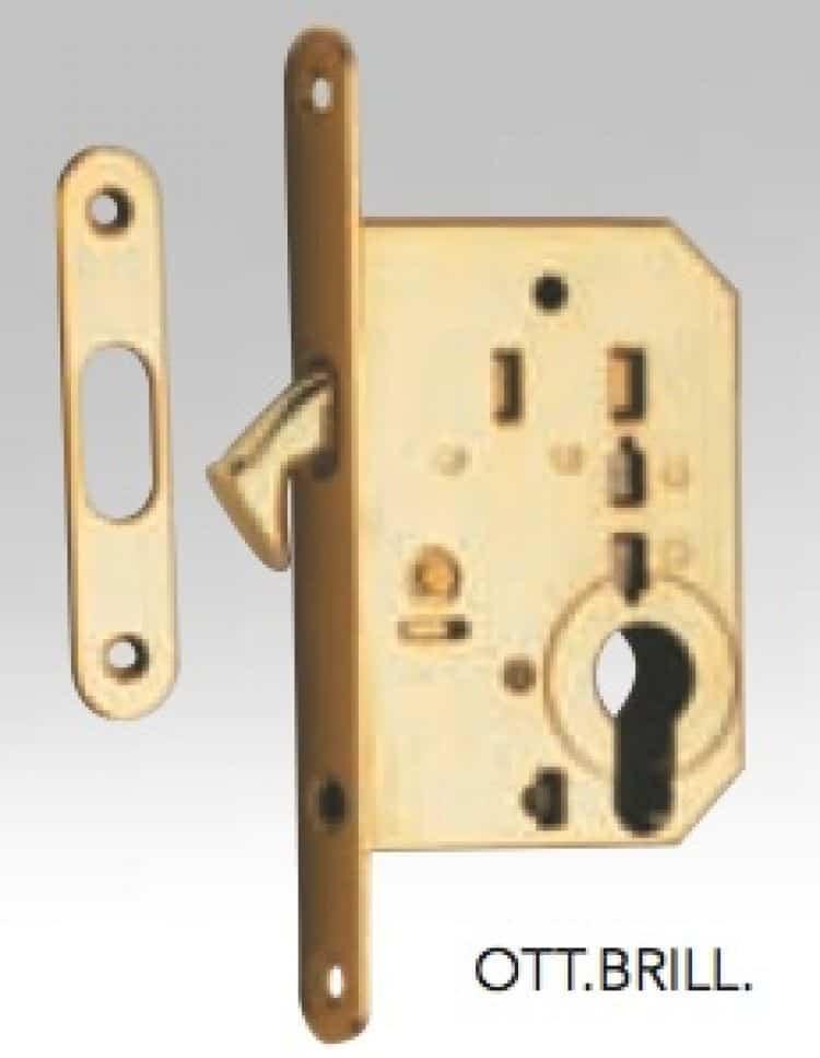 Serratura per porta scorrevole reguitti con foro yale for Prezzo cilindro europeo