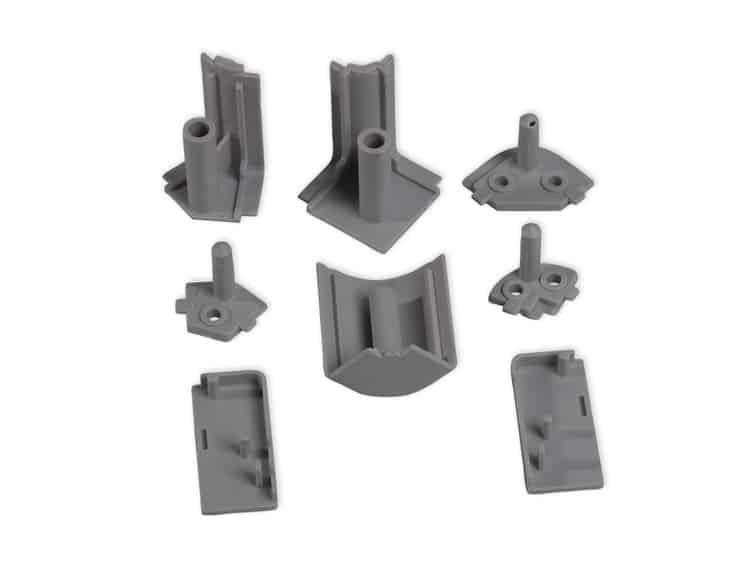 Accessori in plastica per alzatine Mixline rettangolari in ...