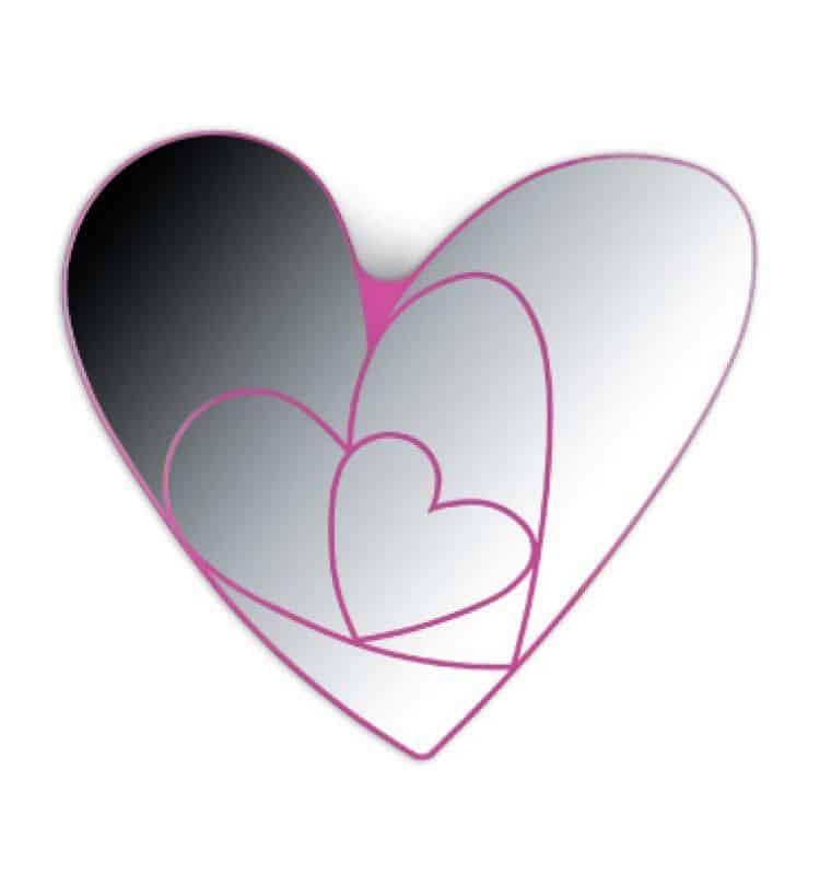 Specchio cuore feliz k8551 valli arredobagno - Specchio a cuore ...