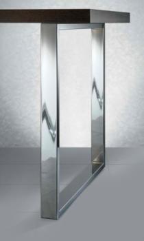 Gamba per tavolo altezza 710 mm per piano da 900 nichelato satinato