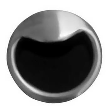 Maniglia B ad incasso rotonda Confalonieri diametro 52 mm Nichelata satinata